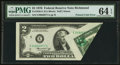 Error Notes:Foldovers, Fr. 1935-E $2 1976 Federal Reserve Note. PMG Choice Uncirculated 64EPQ.. ...