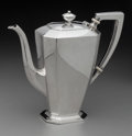 Silver Holloware, American:Coffee Pots, A Gorham Fairfax Pattern Silver Coffee Pot, Providence,Rhode Island, circa 1930. Marks: GORHAM, (lion-ancho...