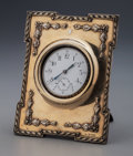 Silver Holloware, Continental:Holloware, A Silver Swiss Pocket Watch in a William Comyns & Sons Silverand Leather Frame, circa 1905. Marks to frame: (lion passant),...
