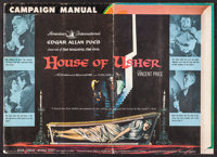"House of Usher & Others Lot (American International, 1960). Uncut Pressbooks (9) (Multiple Pages, 8.5""-17&q..."