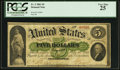 Large Size:Demand Notes, Fr. 2 $5 1861 Demand Note PCGS Very Fine 25.. ...