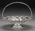 Silver Holloware, British:Holloware, A Victorian Silver-Plated Reticulated Basket, Sheffield, England,circa 1900. Marks: (crown), (Maltese cross), MB&S.9-3...