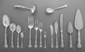 Silver Flatware, American:Gorham, A One Hundred-and-Twenty-Five Piece Gorham Rondo Pattern Silver Partial Flatware Service for Sixteen and Serving P... (Total: 125 Items)