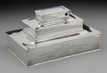 Silver Holloware, American:Boxes, A Tiffany & Co. Silver Tiered Humidor and Cigarette Case, NewYork, New York, circa 1920. Marks: STERLING, TIFFANY &CO...