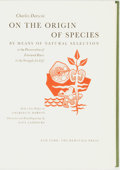 Books:Natural History Books & Prints, Charles Darwin. On the Origin of Species by Means of Natural Selection. New York: The Heritage Press, [1963]....