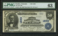 National Bank Notes:Colorado, Pueblo, CO - $50 1902 Plain Back Fr. 678 The First NB Ch. # 1833....