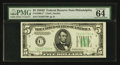Small Size:Federal Reserve Notes, Fr. 1960-C* $5 1934D Federal Reserve Note. PMG Choice Uncirculated 64 EPQ.. ...