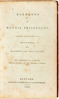 Books:Medicine, Thomas C. Upham. Elements of Mental Philosophy: Abridged andDesigned as a Text-Book for Academies and High Schools....