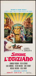 "Movie Posters:Historical Drama, The Egyptian (Gold Film, R-1969). Italian Locandina (13"" X 27.5"").Historical Drama.. ..."