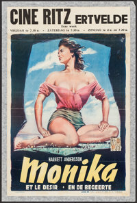 "Summer with Monika (Svensk Filmindustri, 1953). Belgian (14"" X 21.25""). Foreign"