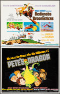"Movie Posters:Animation, Bedknobs and Broomsticks & Other Lot (Buena Vista, 1971). HalfSheets (2) (22"" X 28"") & Sheet of Cut-Out Figures (12.5 X20.... (Total: 3 Items)"