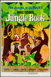 "The Jungle Book (Buena Vista, 1967). One Sheet (27"" X 41"") Flat Folded. Animation"