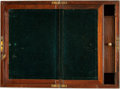 Books:Furniture & Accessories, [Writing Accessories]. Late Nineteenth-Century Portable WoodenWriting Desk. [n.d., Circa 1885].. ...