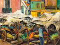Fine Art - Painting, American:Modern  (1900 1949)  , Arnold Hoffmann (Russian/American, 1886-1966). The Market,1957. Oil on canvas. 20 x 26 inches (50.8 x 66 cm). Signed an...