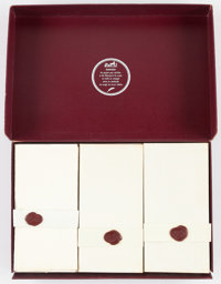 "Hermes Parchment Stationary Set Notes: 4"" Width x 8"" Length Pages: 8"" Width x 11.5"" Length Good Cond..."