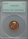 Proof Lincoln Cents: , 1939 1C PR65 Red PCGS. PCGS Population (679/339). NGC Census: (300/188). Mintage: 13,520. Numismedia Wsl. Price for problem...