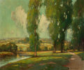 Fine Art - Painting, American:Antique  (Pre 1900), George Thompson Pritchard (American, 1878-1962). SummerLandscape. Oil on canvas. 25 x 29-1/2 inches (63.5 x 74.9 cm).S...