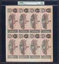 Confederate Notes:1864 Issues, T69 $5 1864 PF-5 Cr. 560 Uncut Sheet of Eight.. ...