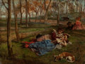 Fine Art - Painting, European:Antique  (Pre 1900), Scipione Vannutelli (Italian, 1834-1894). Love in Idleness,1872. Oil on panel. 9 x 11-1/2 inches (22.9 x 29.2 cm). Sign...