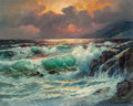 Fine Art - Painting, American:Contemporary   (1950 to present)  , Alexander Dzigurski II (American, b. 1968). Seascape. Oil oncanvas. 16 x 20 inches (40.6 x 50.8 cm). Signed lower right...