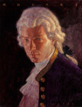 Fine Art - Painting, American:Contemporary   (1950 to present)  , Bruce Wolfe (American, 20th Century). Mozart, Great Composer,Time Life CD cover, 1994. Oil on canvas laid on masonite. ...