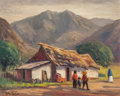 Texas:Early Texas Art - Modernists, Rolla Sims Taylor (American, 1872-1970). La Cercada, Mexico,1956. Oil on canvasboard. 20 x 24 inches (50.8 x 61 cm). Si...