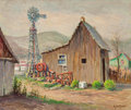 Texas:Early Texas Art - Modernists, Rolla Sims Taylor (American, 1872-1970). El Papalote, FortDavis, Texas. Oil on masonite. 20 x 24 inches (50.8 x 61 cm)...