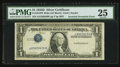 Error Notes:Inverted Third Printings, Fr. 1613W $1 1935D Wide Silver Certificate. PMG Very Fine 25.. ...