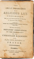 Books:Americana & American History, [Virginia Imprint]. William Melmoth. The Great Importance of aReligious Life Considered... From the Twenty-Third London...