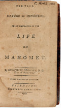 Books:Biography & Memoir, Humphrey Prideaux. The True Nature of Imposture, Fully Displayedin the Life of Mahomet. Fairhaven: Printed by J...