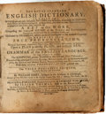 Books:Reference & Bibliography, [Dictionary]. William Perry. The Royal Standard EnglishDictionary. Worcester, Massachusetts: Printed ... by Leo...