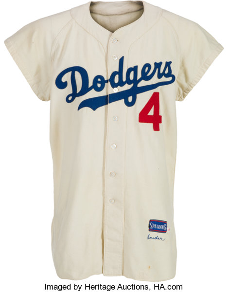 1956 Duke Snider Game Worn Brooklyn Dodgers Jersey.... Baseball ... 252fef27c31