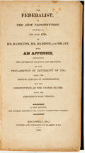 Books:Americana & American History, [Alexander Hamilton, James Madison, Thomas Jay]. The Federalist,on The New Constitution, Written in the Year 1788......