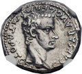 Ancients:Roman Imperial, Ancients: Gaius 'Caligula' (AD 37-41), with Divus Augustus. ARdenarius (18mm, 3.26 gm, 1h)....