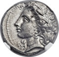 Ancients:Greek, Ancients: LUCANIA. Metapontum. Ca. 330-280 BC. AR stater or nomos(20mm, 7.65 gm, 6h)....