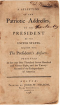 Books:Americana & American History, [American History]. A Selection of the Patriotic Addresses, tothe President of the United States, Together with the Pre...
