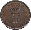 Argentina, Argentina: Patagonia - New France. Bronze Pattern 2 Centavos 1874MS65 Red and Brown NGC....