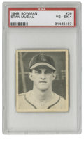 Baseball Cards:Singles (1940-1949), 1948 Bowman Stan Musial #36 PSA VG-EX 4. With a workmanlikeapproach to the game of baseball, Stan the Man established hims...