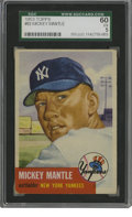 Baseball Cards:Singles (1950-1959), 1953 Topps Mickey Mantle #82 SGC EX 60. The stunning image of Mantle is what makes this '53 Topps card so desirable. The e...