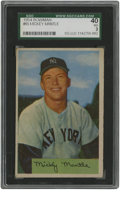 Baseball Cards:Singles (1950-1959), 1954 Bowman Mickey Mantle #65 SGC VG 40. The early Bowman issues were known for their large photographs and minimal (if pre...