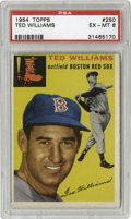 Baseball Cards:Singles (1950-1959), 1954 Topps Ted Williams #250 PSA EX-MT 6. Topps rocked the collecting world with the wildly popular design of the 1954 Topp...