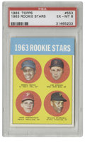 Baseball Cards:Singles (1960-1969), 1963 Topps 1963 Rookie Stars (Willie Stargell) #553 PSA EX-MT 6.Superb example of the important Willie Stargell rookie ex...