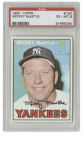 Baseball Cards:Singles (1960-1969), 1967 Topps Mickey Mantle #150 PSA EX-MT 6. Offered here is a strongexample of the Mick's '67 Topps card. Late in his care...