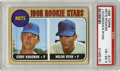 Baseball Cards:Singles (1960-1969), 1968 Topps Mets Rookie Stars (Nolan Ryan) #177 PSA VG-EX 6. The HOFhurler who is baseball's all-time strikeout king also h...