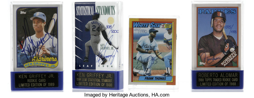 Ken Griffey Jr Roberto Alomar Frank Thomas Signed Cards