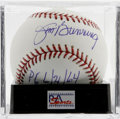 Autographs:Baseballs, Jim Bunning Single Signed Baseball, PSA Gem Mint 10. A Hall of Fameballplayer turned U.S. Senator, Jim Bunning has applied...
