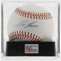 Autographs:Baseballs, Jose Canseco Single Signed Baseball, PSA Mint 9. Media darling JoseCanseco has signed this OAL (Brown) baseball on the swe...