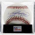 Autographs:Baseballs, Vladimir Guerrero Single Signed Baseball, PSA Mint+ 9.5. Guerrero,2004 AL MVP, is regarded among the most well-rounded pla...