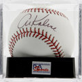 Autographs:Baseballs, Al Kaline Single Signed Baseball, PSA Gem Mint 10. Perfect examplesweet spot signature courtesy of the great Al Kaline, th...