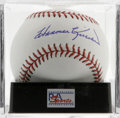 Autographs:Baseballs, Harmon Killebrew Single Signed Baseball, PSA Gem Mint 10.Killebrew, one of the premier power hitters in baseball's finehi...